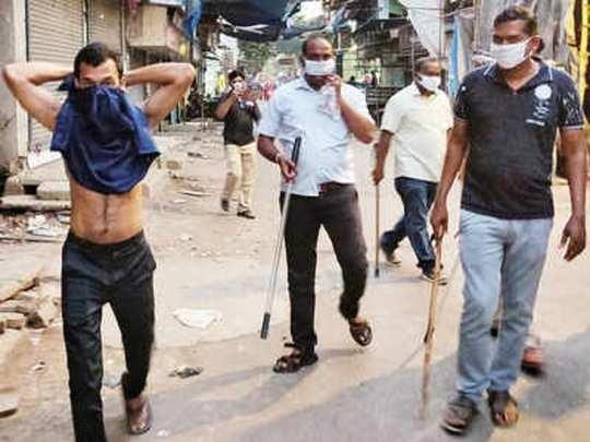 மகாராஷ்டிராவில் போலீசார் கட்டுப்பாடு