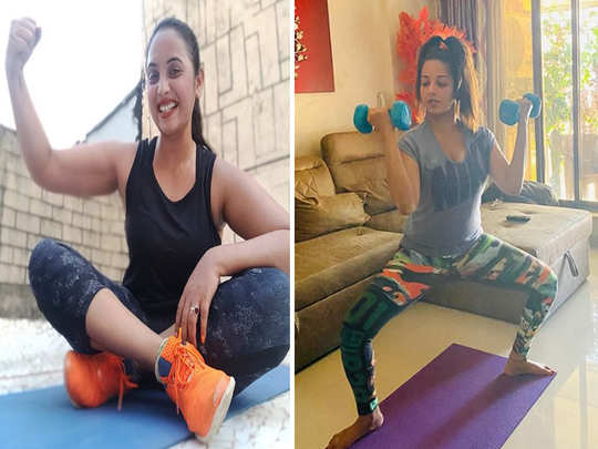 watch bhojpuri stars from monalisa to rani chatterjee shared workout video and photos at home in lockdown