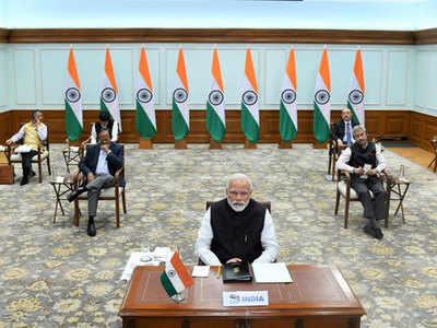 पीएम नरेंद्र मोदी ने जी20 देशों को संबोधित किया।