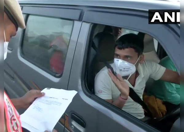 दिल्ली-गुड़गांव बॉर्डर पुलिस मुस्तैद