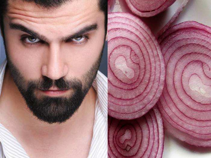 how to grow your beard hair faster with onion juice at home and know how to use onion juice for beard growth