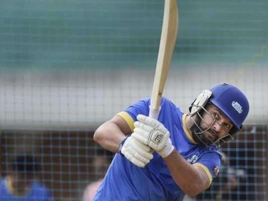 Mumbai: Former Indian batsman Yuvraj Singh during a practice session ahead of Ro...