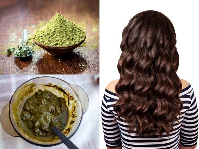 5 henna or mehndi packs for silky grey hair colour growth