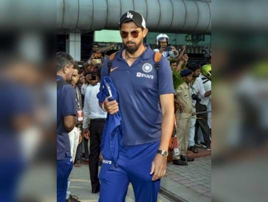 Ranchi: Indias Ishant Sharma arrives at Birsa Munda International Airport in Ra...