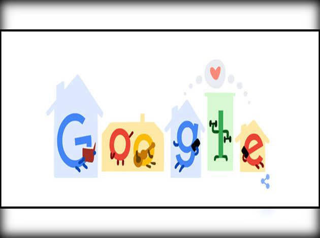 गूगल डूडल की अपील, 'घर पर रहें, जीवन बचाएं: कोरोना वायरस को फैलने से रोकें'