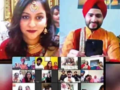 वीडियो कॉलिंग ऐप पर हो गई शादी