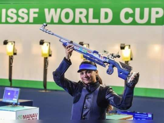 **YEARENDER 2019: SPORTS**New Delhi: Indian shooter Apurvi Chandela after winnin...
