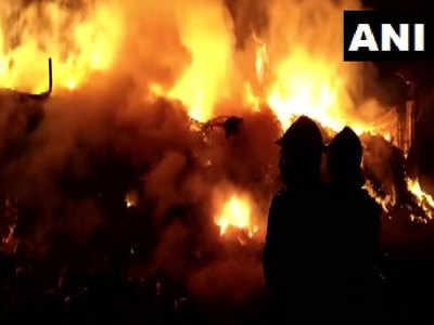 गोदाम में लगी आग