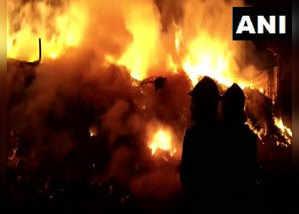 भिवंडी में गोदाम में लगी आग, जान का नुकसान नहीं