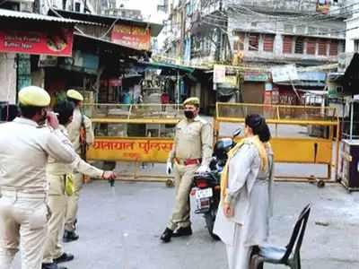 जयपुर के रामगंज और आसपास महाकर्फ्यू लगा दिया गया है। (प्रतीकात्मक त)