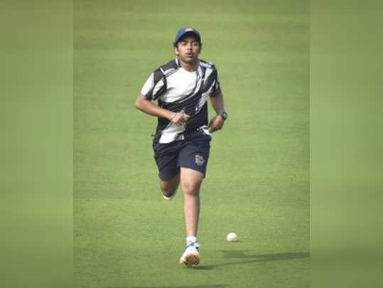 Visakhapatnam: Indian cricketer Prithvi Shaw during a practice session ahead of ...