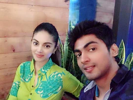 Tharshan and Sanam Shetty