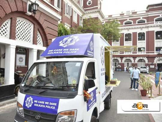 Kolkata police's mobile canteen for all those frontline workers of the force