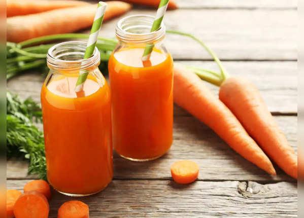 गाजर और पालक का रस