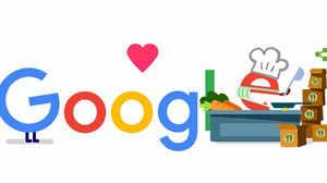 Google ने अपने आज के डूडल में फूड सर्विस देने वालों का किया शुक्रिया