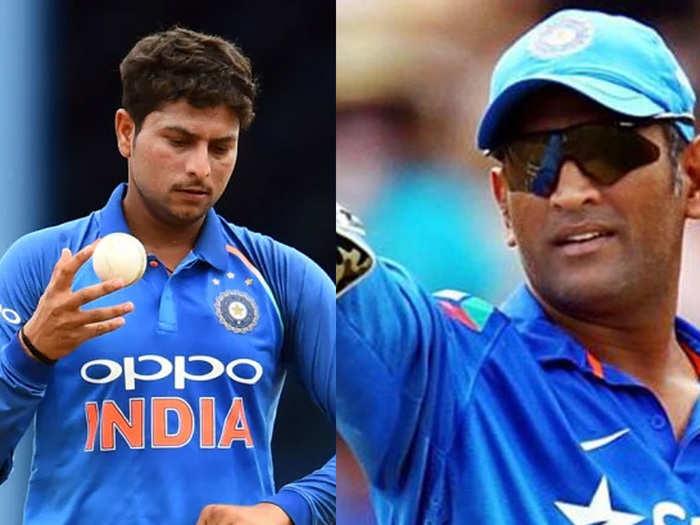 kuldeep yadav and ms dhoni