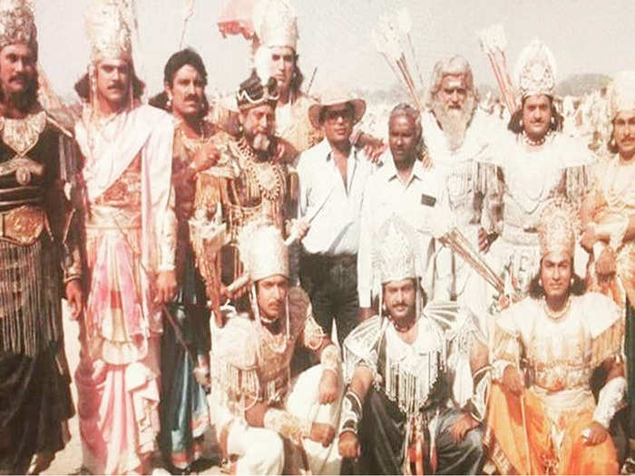 br chopra mahabharat this is how war scenes were shot with local people actors used to live in tents and had only 1 toilet