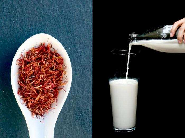 what are the health benefits of drinking saffron with milk