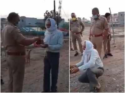 पुलिस ने एक बुजुर्ग के साथ लॉकडाउन तोड़ने पर अमानवीय व्यवहार किया।