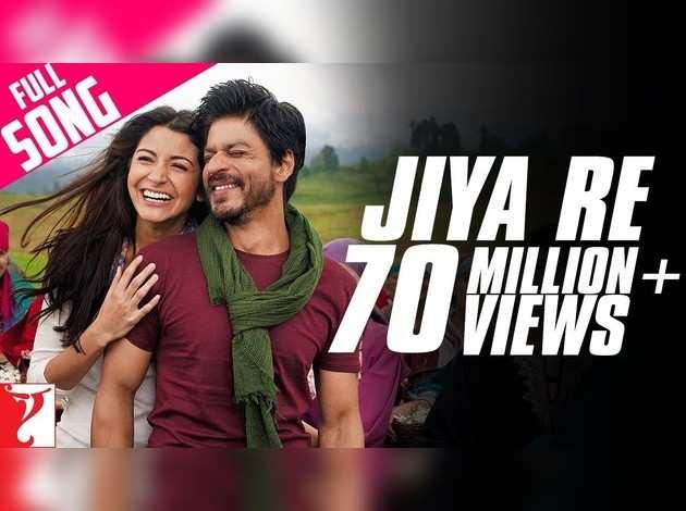 अनुष्का शर्मा और शाहरुख खान पर फिल्माया गाना 'जिया रे'