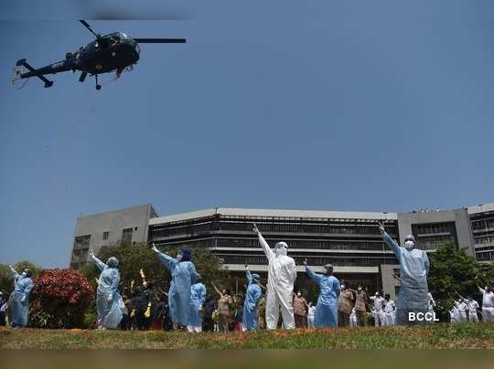 From flypasts to bands: Armed forces pay gratitude to Coronavirus warriors