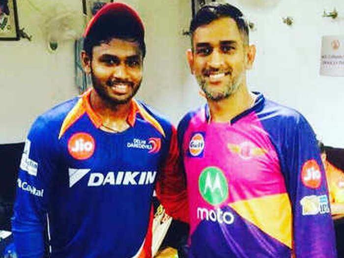 sajnu samson recalled how mahendra singh dhoni made him dream come true
