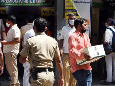 दिल्ली के एक वाइन शॉप की तस्वीर