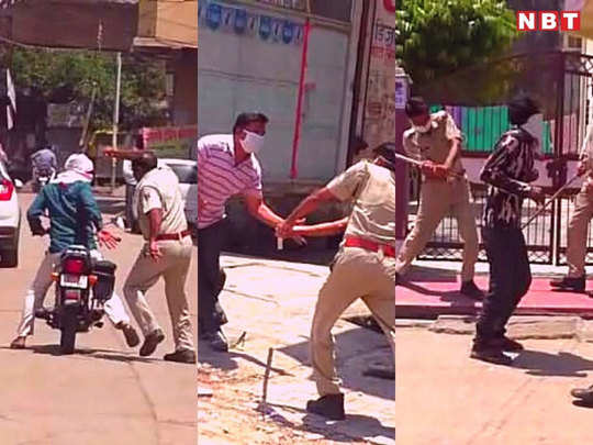 rajasthan police use force against coronavirus lockdown offenders see photos from dausa