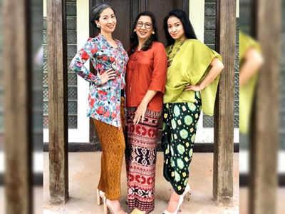 सीता (दाएं), उनकी मां मारिया (बीच में) और बहन आनिंद्याजाति (बाएं)
