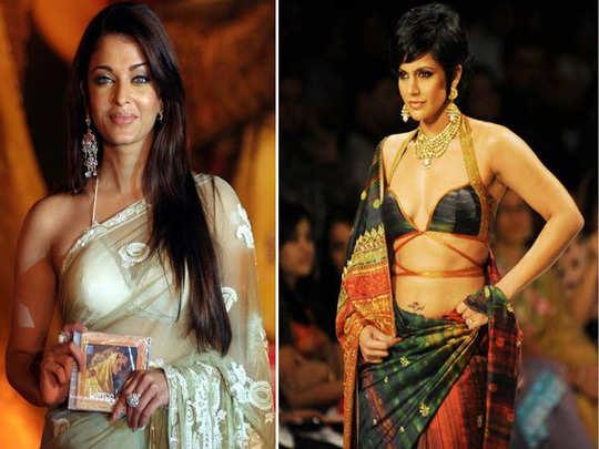 actresses worst saree look