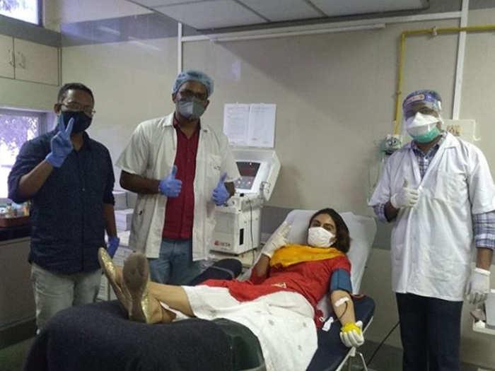 जोआ ने किया रक्तदान