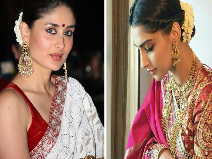 when bollywood actresses wear their mother and mother in law saree or jewellery