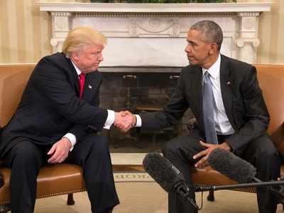 राष्ट्रपति ट्रंप और ओबामा