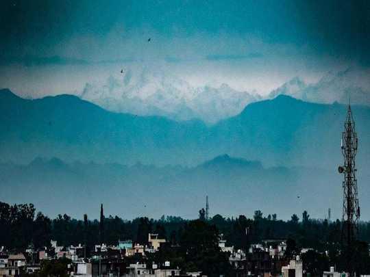 himalayan peaks seen from india photos from bihar uttar pradesh punjab