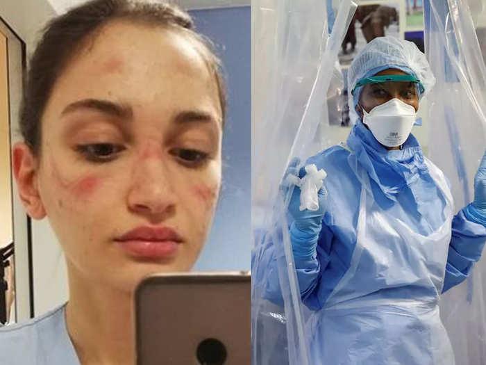 international nurses day see photos of nurses and medical staff doing duty in corona virus