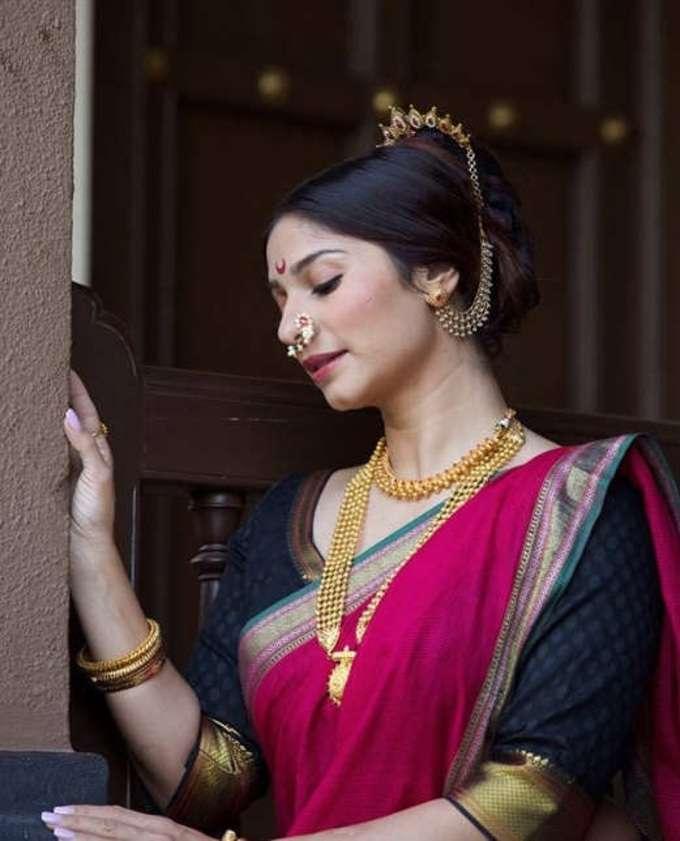 तनीषा मुखर्जीचा'महाराष्ट्रीयन लुक', चाहत्यांकडून कौतुक