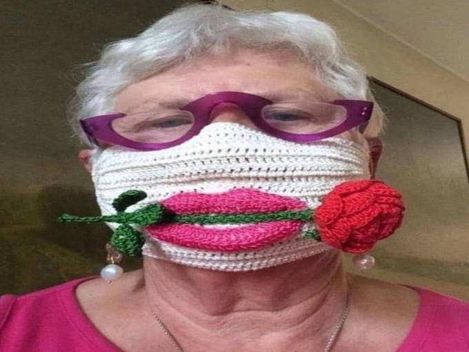 दादी ने बनाया कमाल का मास्क