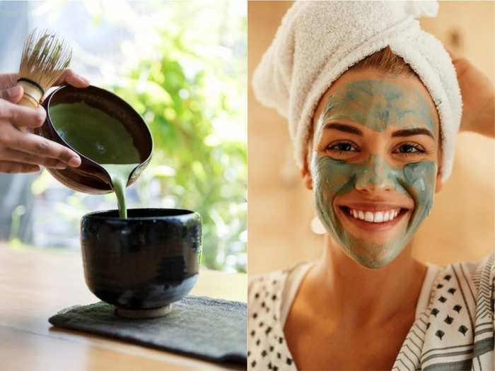 skin care tips matcha tea face mask for glowing wrinkle pimple free skin