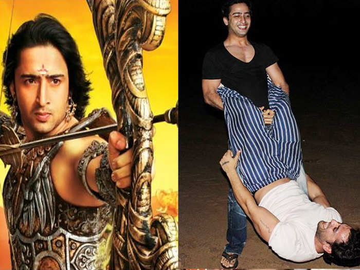 mahabharat shooting and training fun masti photos revealed by actor shaheer sheikh