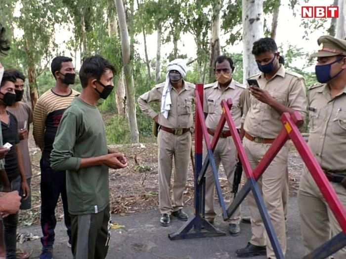 यूपी और राजस्थान पुलिस के बीच झड़प
