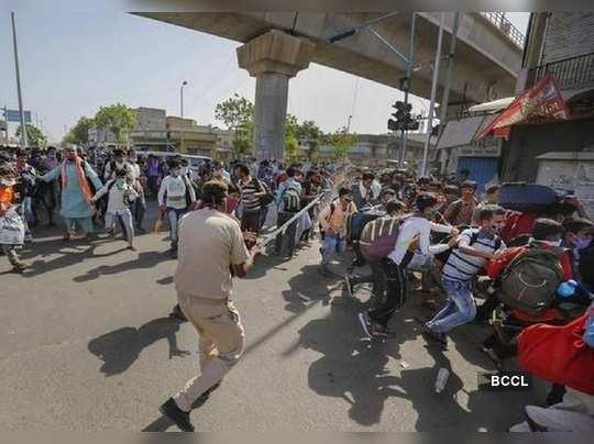 Gujarat cops and migrant labourers clash in Rajkot, it was about three Shramik trains