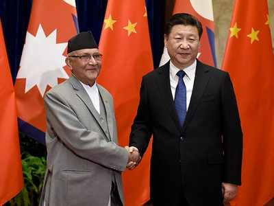 चीनी राष्ट्रपति के साथ नेपाली प्रधानमंत्री