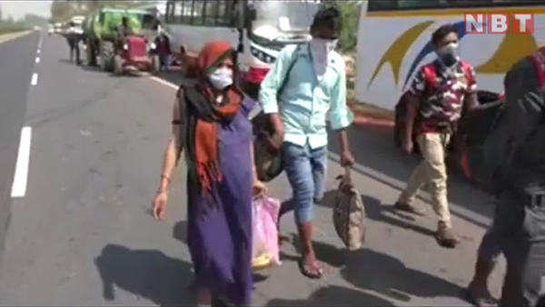 kasganj pregnant woman walks from surat of gujarat to uttar pradesh border during lockdown
