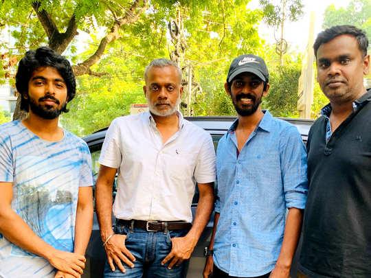 G.V.Prakash with Selfie movie team