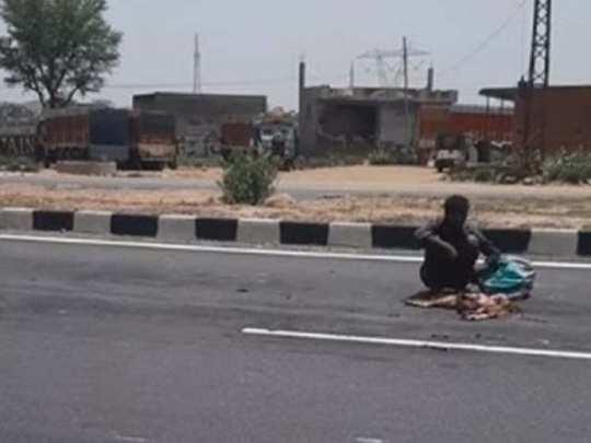man found eating dead dog on delhi jaipur highway