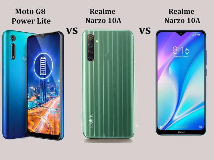मोटो G8 Power Lite vs रियलमी Narzo 10A vs रेडमी 8A Dual: कौन ज्यादा बेहतर