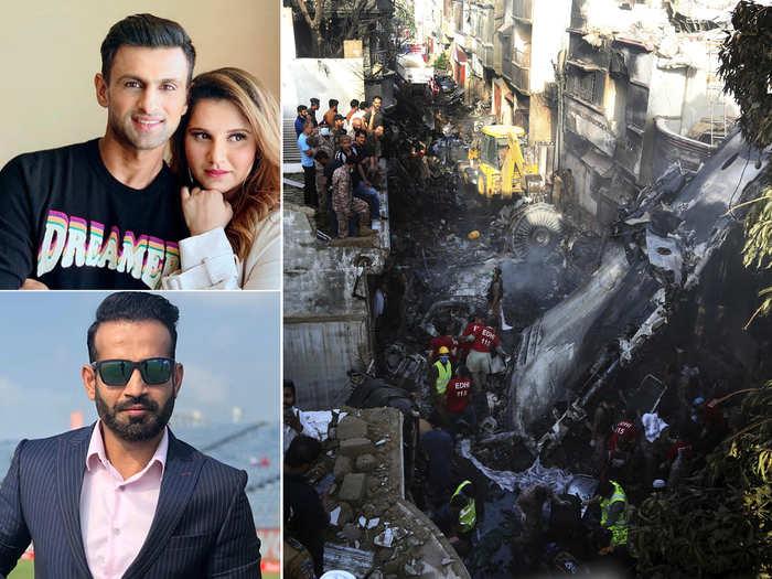 pia plane crash in karachi: sania mirza mohammad kaif to irfan pathan indian sports fraternity reacts on tragic pakistan plane crash