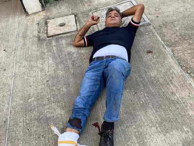 फ्लैट से गिरकर घायल बीजेपी नेता