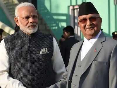 नेपाल पीएम केपी शर्मा ओली के साथ पीएम मोदी