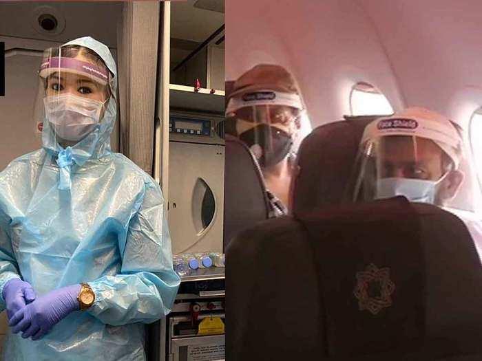 corona lockdown domestic flights resumed from eid 2020 staff seen in ppe kits passengers in face shield